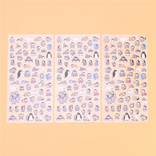Load image into Gallery viewer, Cartoon Penguin Adhesive Stickers (10 sheets)-Washi Whale