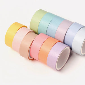 Rainbow Pastel Washi Set (12 pack)-Washi Whale