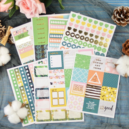Tropical Forest Weekly Planner Sticker Kit-Washi Whale