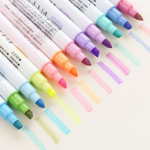 12 Milkliner Double-Sided Highlighters-Washi Whale