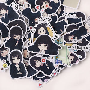 Japanese Menhera-chan Stickers (39 pieces)-Washi Whale
