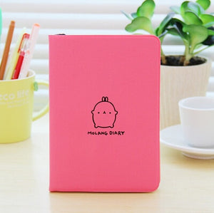 Soft Cover Molang Notebook-Washi Whale