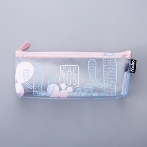 Clear Cactus Pencil Case-Washi Whale