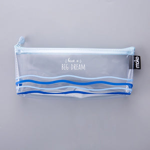 Clear Whale Pencil Case-Washi Whale