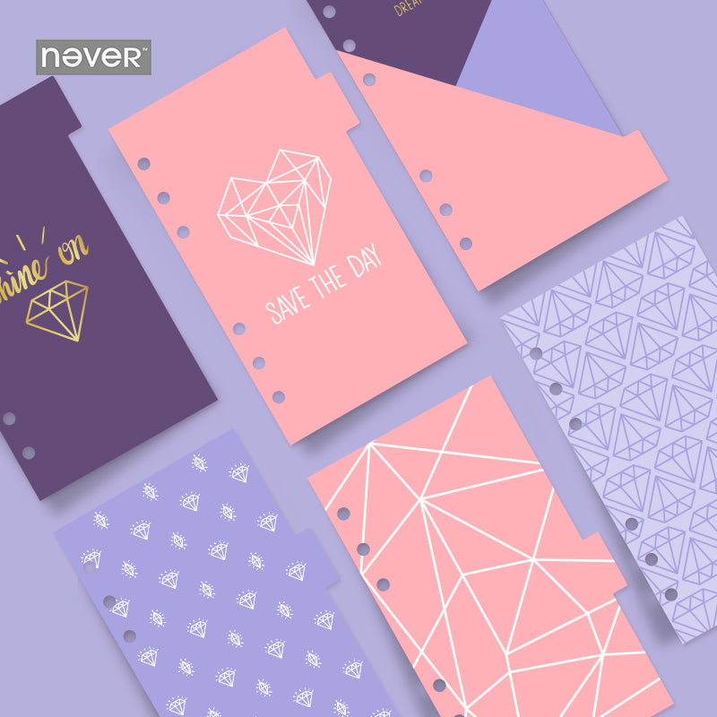 Purple Diamonds Index Dividers-Washi Whale