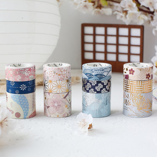 Japanese Silver and Gold Foil Washi Sets-Washi Whale