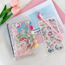 Load image into Gallery viewer, A6 Unicorn Planner-Washi Whale
