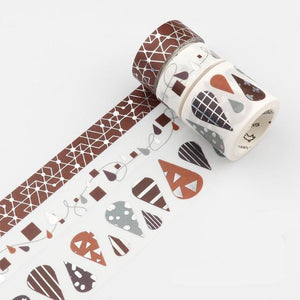 Gold Foil 3 Set Washi Tape-Washi Whale