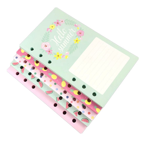 Floral & Fruit Planner Refill Pages-Washi Whale