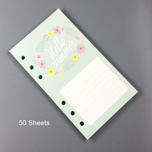 Load image into Gallery viewer, Floral & Fruit Planner Refill Pages-Washi Whale