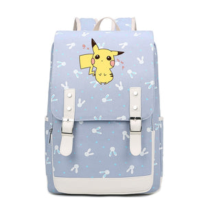 Kawaii Pikachu Canvas Backpack