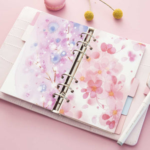 A5/A6 Spiral Floral Delight Planner-Washi Whale