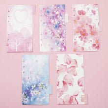 Load image into Gallery viewer, A5/A6 Spiral Floral Delight Planner-Washi Whale
