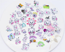 Load image into Gallery viewer, Pink Marie Kitten Stickers (40 pieces)-Washi Whale