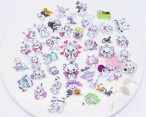 Pink Marie Kitten Stickers (40 pieces)-Washi Whale