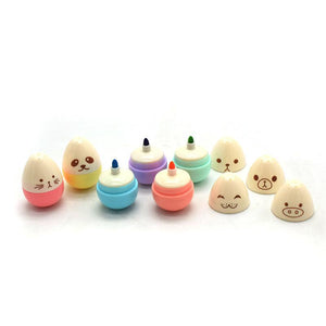 Animal Egg Mini Highlighter Markers-Washi Whale