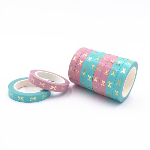 Bow Gold Foil Washi Tape-Washi Whale