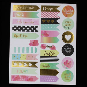 Love This Day Stickers-Washi Whale