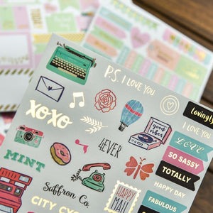 Shine Bright Planner Stickers (4 pack)-Washi Whale