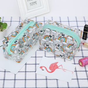 Rainbow Unicorn Clear Pencil Case-Washi Whale