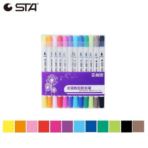 STA Watercolor Dual-tipped Aquarelle Sketch Markers