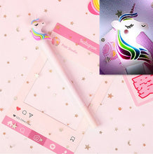 Load image into Gallery viewer, Light-up Unicorn Gel Pen