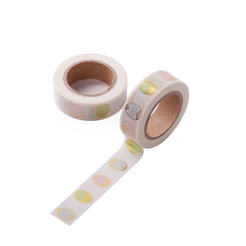 Gold Easter Egg Foil Washi Tape