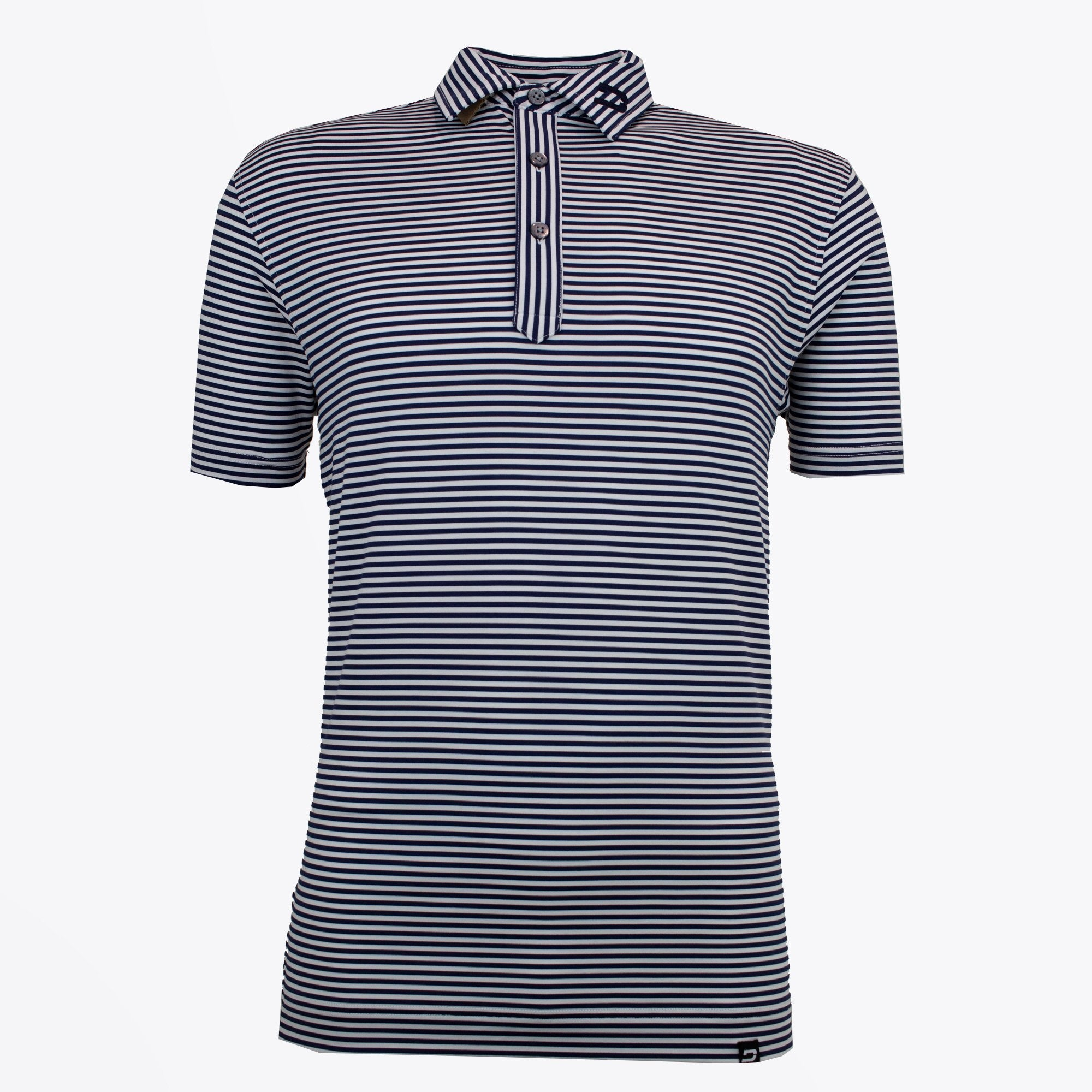 Druids Golf - Mens Smart Stripe Polo (Navy)