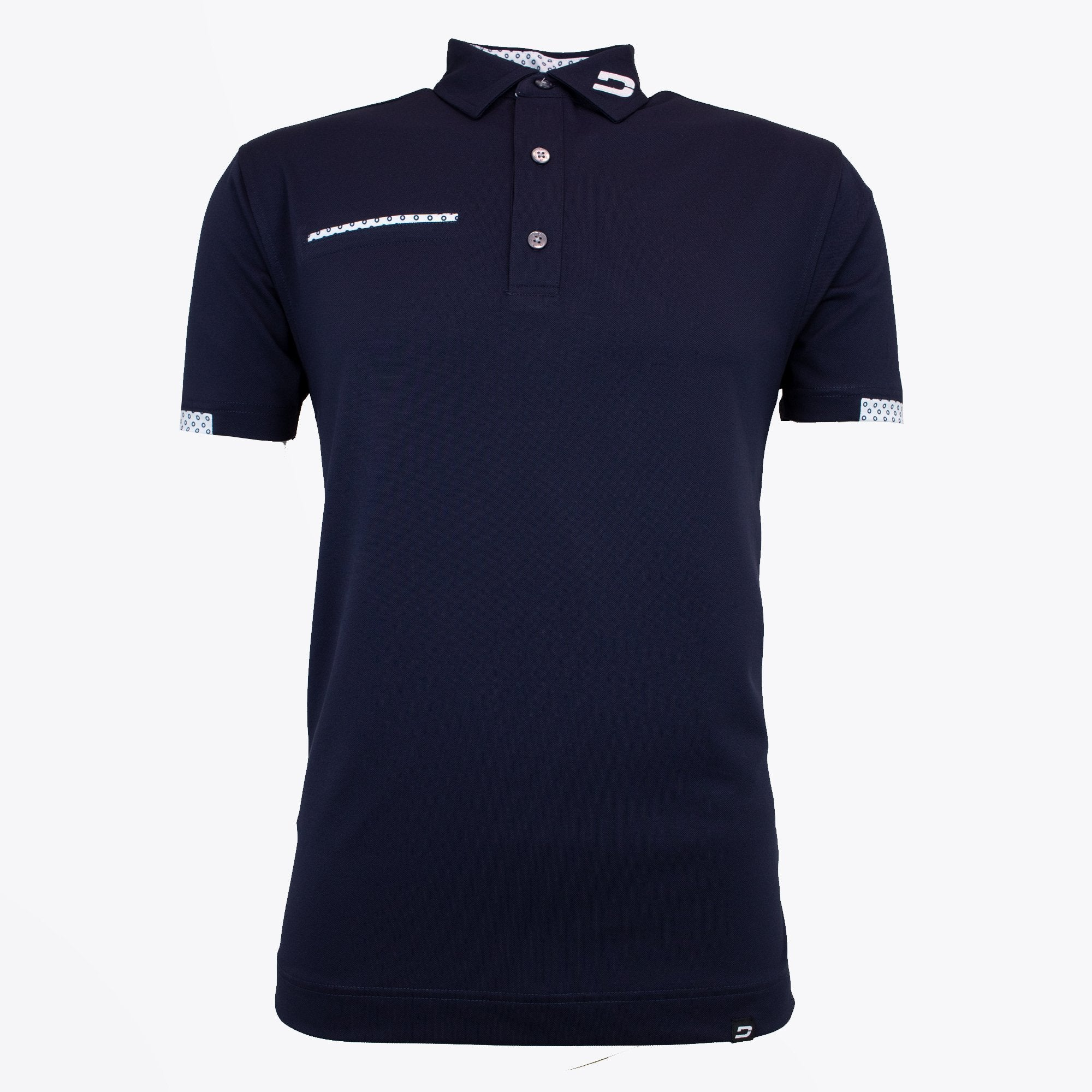 Druids Golf - Mens Fashion Pocket Polo (Navy)