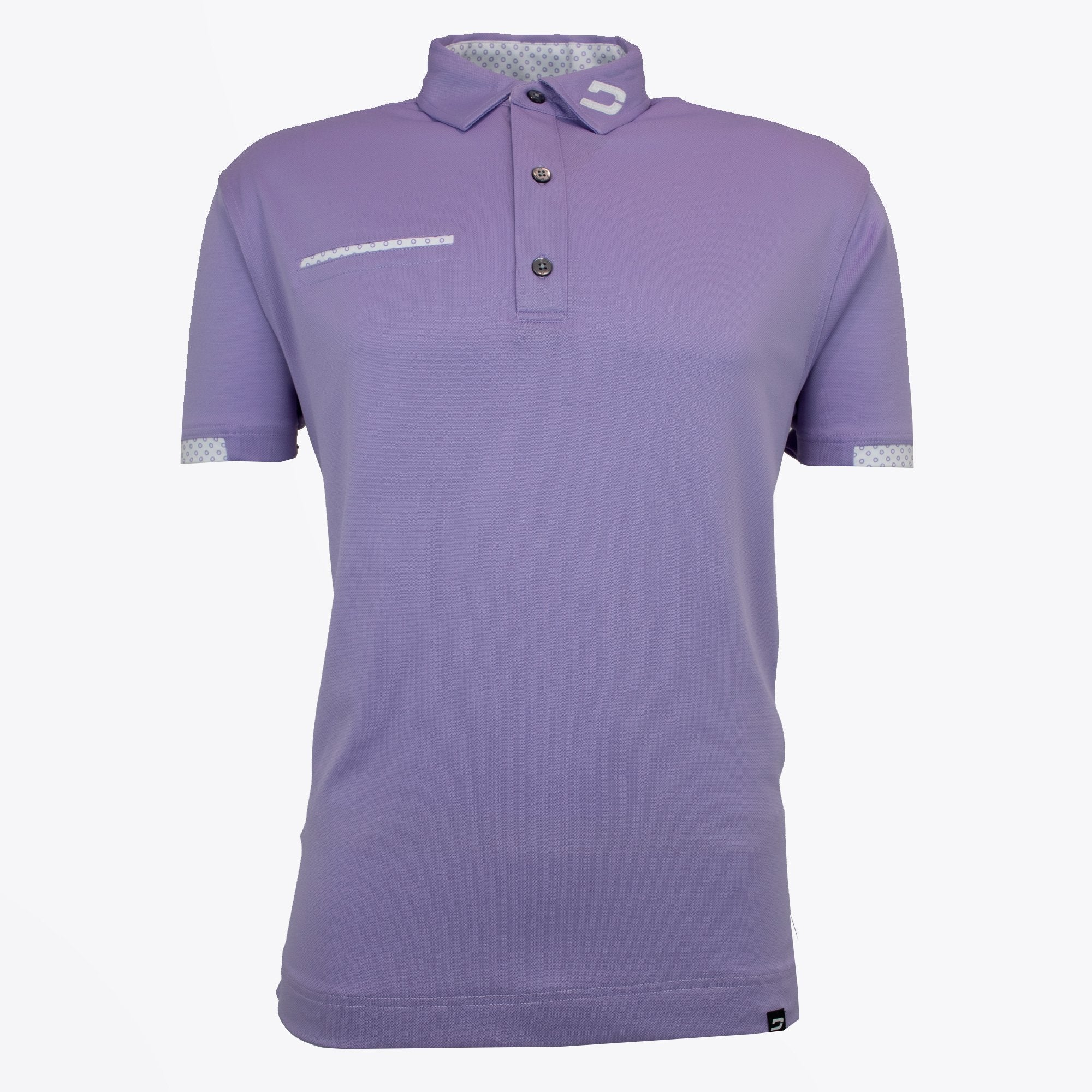 Druids Golf - Mens Fashion Pocket Polo (Lavendar)
