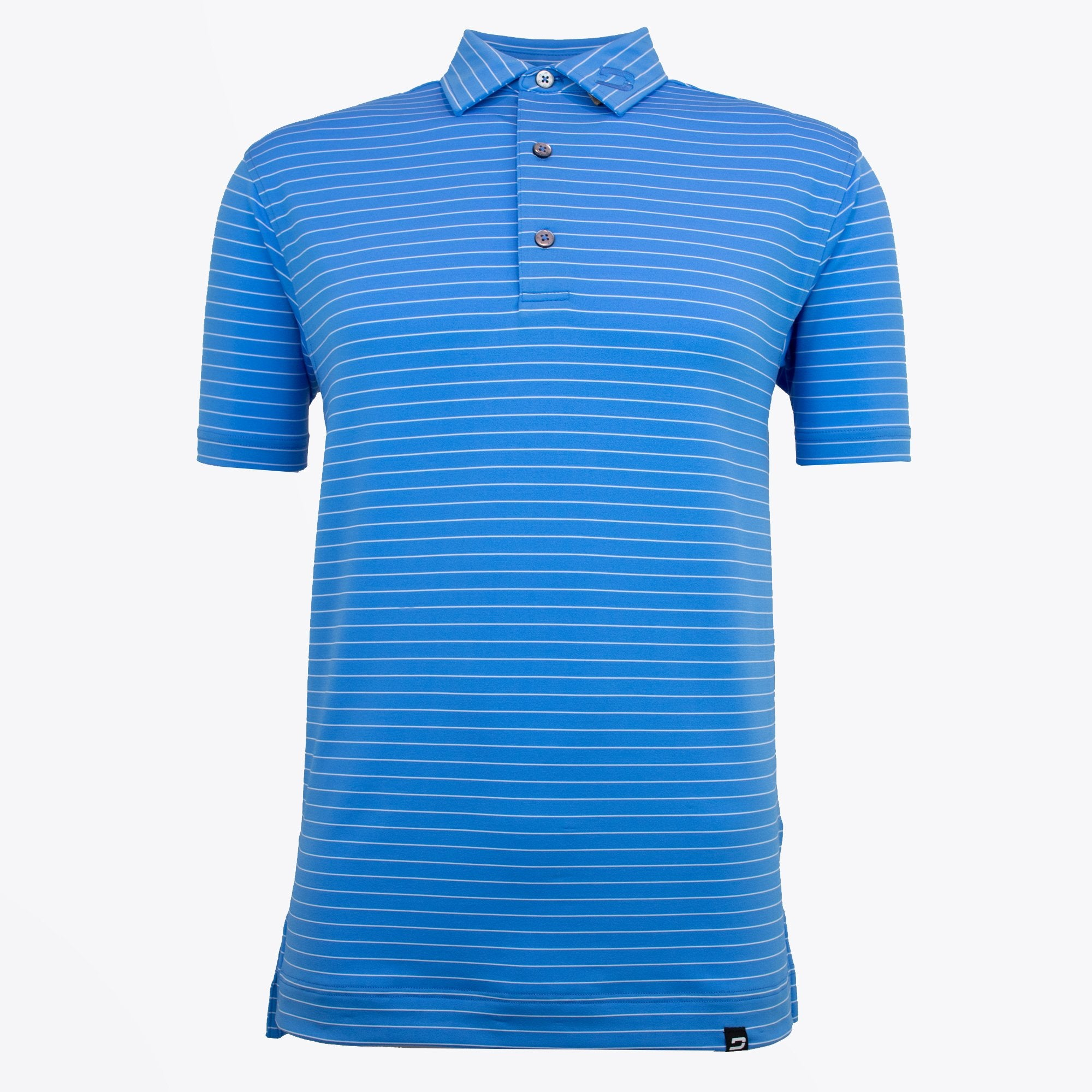 Druids Golf - Mens Pin Stripe Polo (Blue)