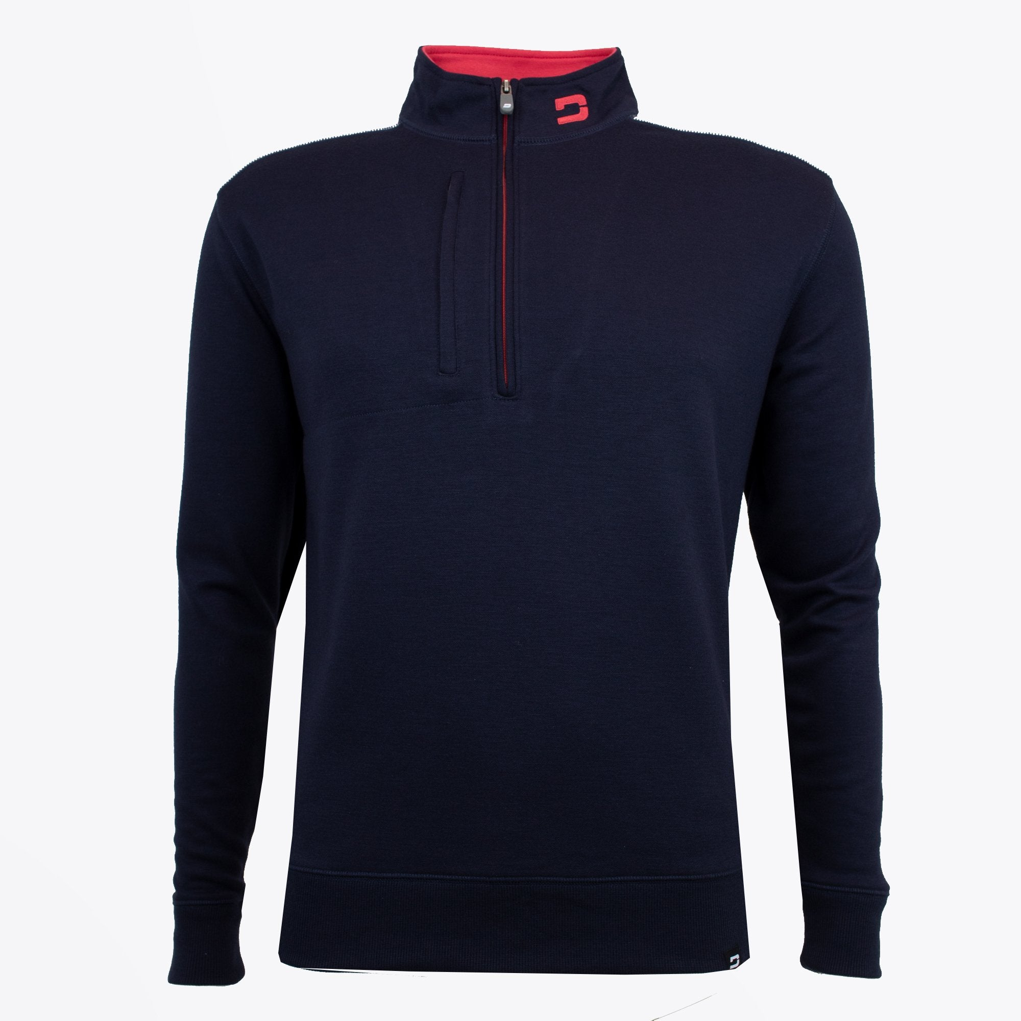 Druids Golf - Mens Two Tone 1/4 Zip (Navy)