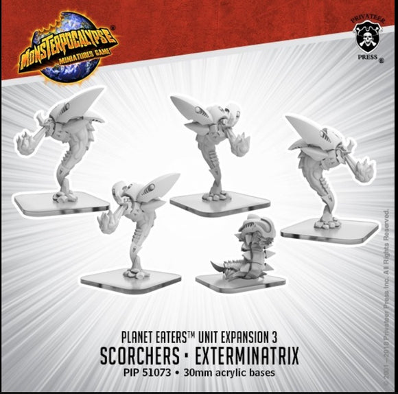 Scorchers & Exterminatrix - Monsterpocalypse Planet Eaters Units (metal/resin)