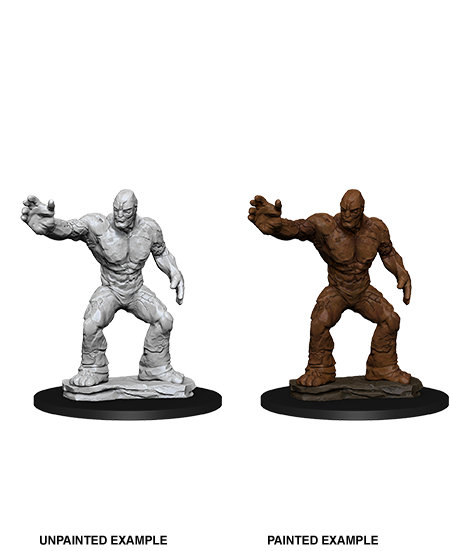 DND UNPAINTED MINIS WV10 CLAY GOLEM (144)