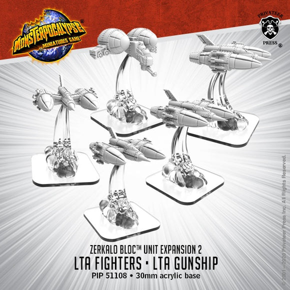 Monsterpocalypse LTA Fighters & LTA Gunship Zerkalo Bloc Unit (Resin)