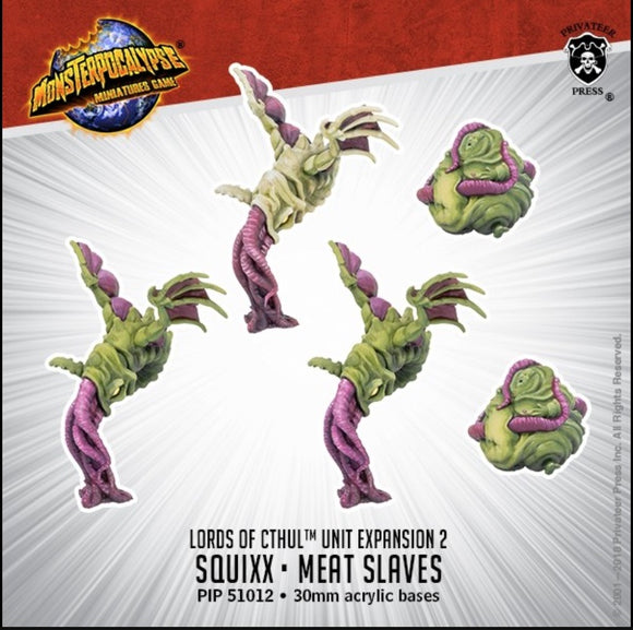 Monsterpocalypse, Squix & Meat Slave: Lords of Cthul Unit (resin)