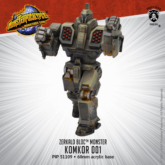 Monsterpocalypse Komkor 001 Zerkalo Bloc Monster (Resin)