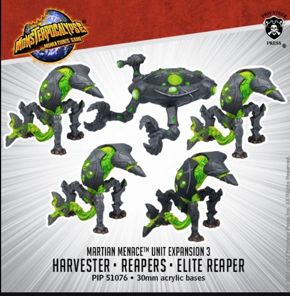 Reapers & Harvester – Monsterpocalypse Martian Menace Units (metal/resin)