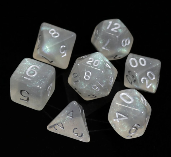 Die Hard Dice RPG Set - Glacial Moonstone w/ Blue