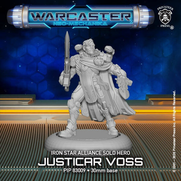 Warcaster Iron Star Alliance Justicar Voss Solo