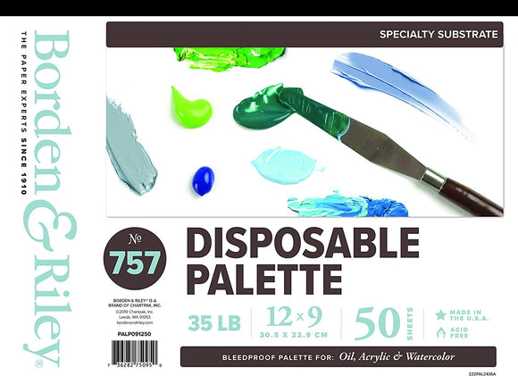 BORDEN RILEY PALETTE #757 PD 9X12 50SH