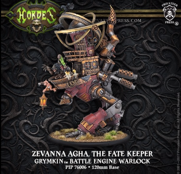 Zevanna Agha, Fate Keeper – Grymkin Battle Engine Warlock (resin/metal)