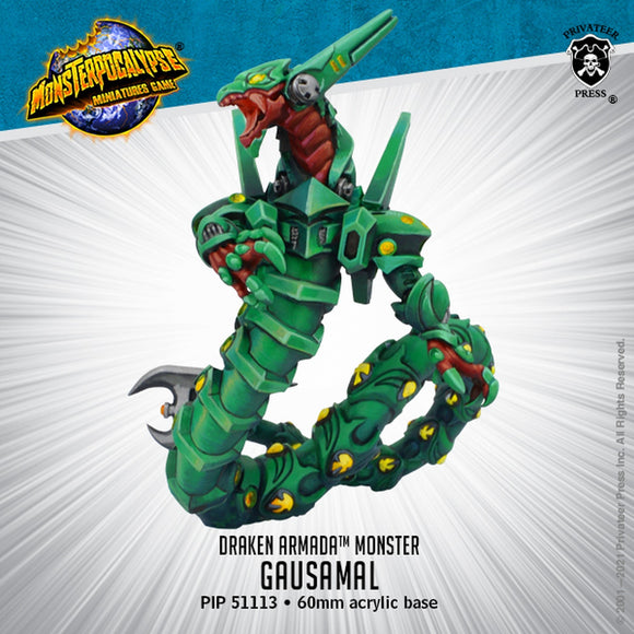 Monsterpocalypse Gausamal Draken Armada Monster (Resin)
