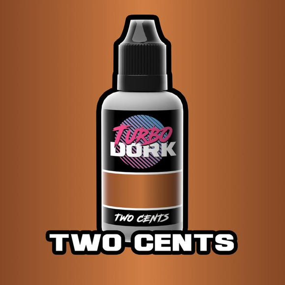 Turbo Dork Two Cents Metallic Acrylic Paint 20ml Bottle - Game State Store