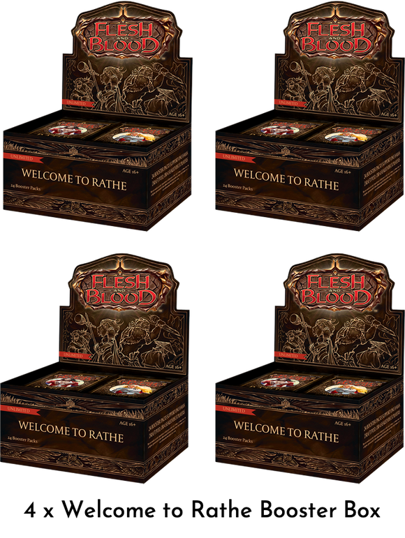Flesh & Blood: Welcome to Rathe Unlimited One Case (4 x Booster Box)
