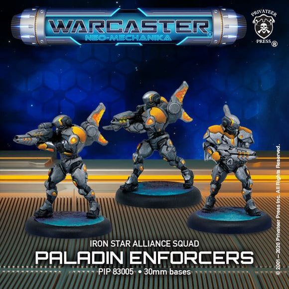 Warcaster Iron Star Alliance Paladin Enforcers Squad