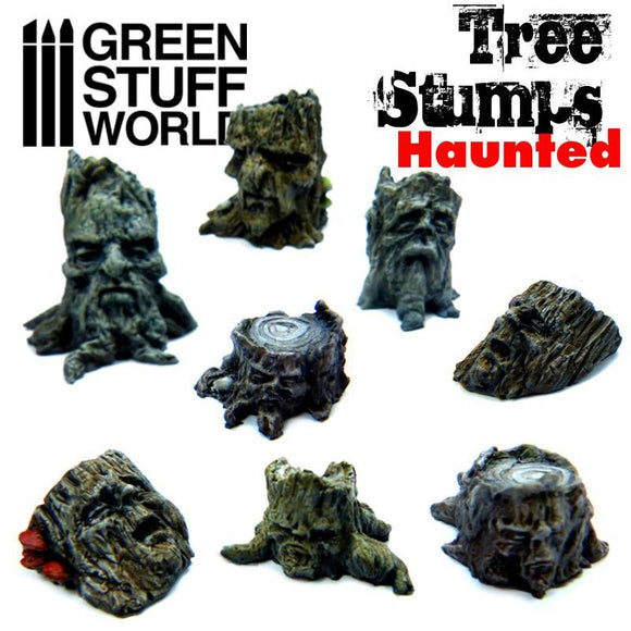 GSW - Haunted Tree Stumps Resin Set