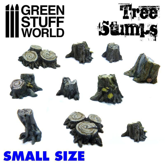 GSW - Small Tree Stumps Resin Set