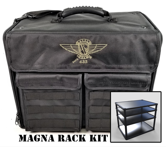P.A.C.K. 432 Molle Horizontal with Magna Rack Load Out (Black) - Game State Store