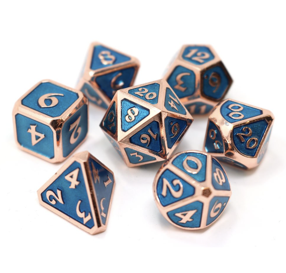 Die Hard Dice Mythica Copper Aquamarine